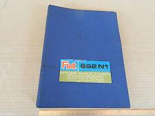 CATALOGO PARTI DI RICAMBIO ORIGINALE CAMION FIAT 662 N1 ANNO DI STAMPA 1968