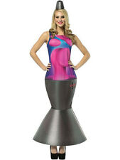 Adult One Size Lava Lamp Outfit Fancy Dress Costume Glow Light Ladies Womens