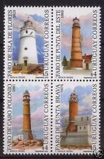 Historical Lighthouses faros lechtrume stamps URUGUAY Sc#1858 MNH  cv$7.5
