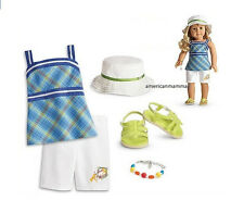 """American Girl LE LANIE GARDEN OUTFIT for 18"""" Doll Sandals Retired Clothes NEW"""