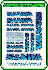 SANWA RC RADIO CONTROL STICKERS MT4 M12 SERVO RX TX CAR BUGGY NITRO LBLUE BLUE B