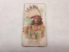 OLD TOBACCO CIGARETTE INDIAN CHIEF TRADE CARD CHIEF GALL HUNKPAPA SIOUX