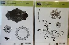 Stampin Up EVERYTHING ELEANOR clear mount stamps blossoms flourish apothecary