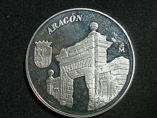 ARAGON , MEDALLA CONMEMORATIVA 25 ANIVERSARIO DE LA CONSTITUCION , PLATA 1ª LEY