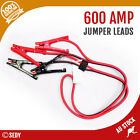 2.4M 600 AMP Car Truck Jumper Leads Jump Start Starter Booster Cables Heavy duty