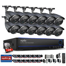 SANNCE 16CH 1080N Surveillance DVR 1.3MP Outdoor Security Camera System 2TB HDD