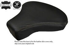 BLACK STITCH CUSTOM FITS PIAGGIO VESPA CIAO BRAVO 50 FRONT LEATHER SEAT COVER