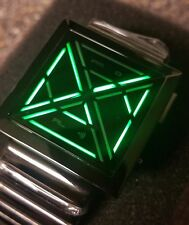 Kisai X Acetate LED Watch - Black and Green
