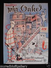 Mon Oncle 1958 French Comedy by Jacques Tati  Danish Movie Poster