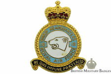 Queens Crown Royal Air Force 18 Group Headquarters Squadron Unit RAF Lapel Badge
