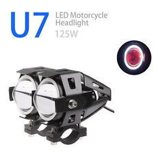 2X 125W Motorcycle CREE U7 Driving Spot Light Headlight LED Fog Lamp For BMW