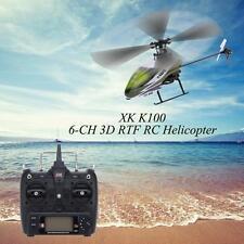 100% Original XK Falcon K100 6CH 3D 6G System RTF RC Helicopter U6Y5