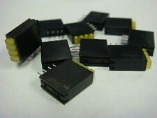 (10) LUMEX 4 STACK LED CIRCUIT BOARD INDICATOR 2x3mm DIFFUSED SSF-LXH534SYD