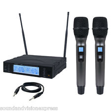 Kam KWM1960 HH V2 Quality Dual Twin UHF Wireless Handheld Microphone Mic System