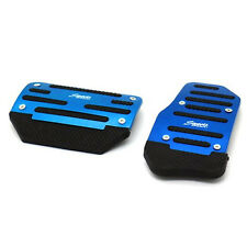 2x Automatic Car Nonslip Brake Accelerator Pedal Cover Set Foot Belt Drill Blue