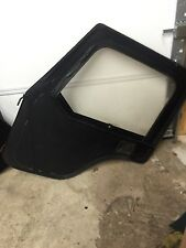 Jeep CJ CJ5 Full Soft Doors w/ Handles Black Vinyl Pair