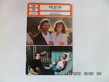 CARTE FICHE CINEMA 1987 MAN ON FIRE Scott Glenn Jade Malle Joe Pesci B.Adams