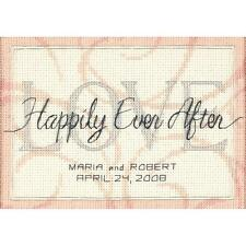 Counted Cross Stitch Kit HAPPILY EVER AFTER WEDDING RECORD Dimensions