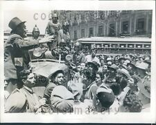 1944 Crowd National Proletarian Front Central Plaza Mexico City Press Photo