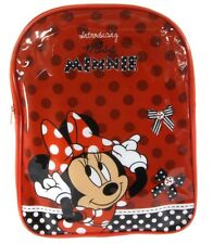 NEW OFFICIAL RED MINNIE MOUSE BACKPACK CHILDRENS MINNIE SCHOOL BAG RUCKSACK