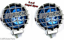 2x LED ANGEL EYE Proiettori 4X4 JEEP SUV FUORISTRADA 12V Lampadina Alogena Super Luminosi