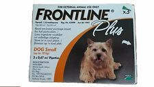 FRONTLINE PLUS For Dogs 0-22 lbs 3pk   Free Ship USPS 1st Class