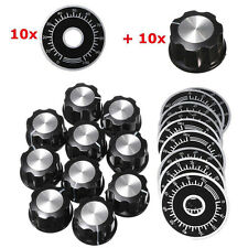 10PCS Rotary Caps Potentiometer Knobs With 10PCS Counting Dial 0 ~ 100 Scale