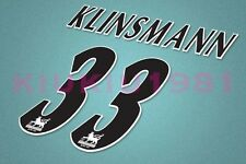 Tottenham Hotspur klinsmann #33 PREMIER LEAGUE 97-06 Black Name/Number Set