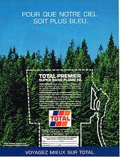 PUBLICITE ADVERTISING 104  1989  TOTAL  PREMIER  carburant  SUPER sans plomb