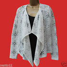 NEXT Fashion Cream Lace Waterfall Bolero Blazer Jacket Summer Casual Party Top