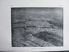 1918 WW1 WWI PRINT ~ CREPEY & AUGER WOODS AERIAL VIEW