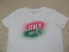 ITALY 2011 NATIONAL SOCCER FOOTBALL PUMA BRAND T-SHIRT -WOMEN GIRL LARGE  ITALIA