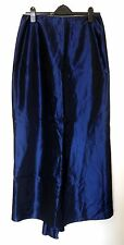 LBD Long Evening Skirt/Small Train:Blue Shot Taffeta:Victoriana:Size 14:New/Tags