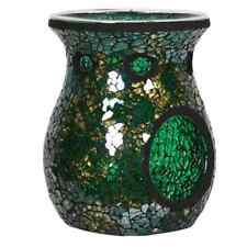 Village Candle - Wax Melt Burner - Green and Gold Crackle - VC570 - BRAND NEW