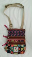 Lily Bloom Small Multi-SectionCross Body Purse EUC