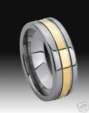 WOLFRAM/TUNGSTEN CARBIDE RING - 8 MM BREIT -  GOLD PLATED - TITAN HART -  191