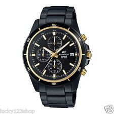 EFR-526BK-1A9 Black Gold Men's Watches Casio Edifice Chronograph 100m New
