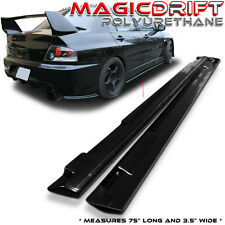 "UNIVERSAL JDM BOTTOM LINE STYLE POLY URETHANE PU SIDE SKIRTS 75"" x 3.5"""