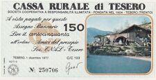 Italia banconota miniassegno anni 70