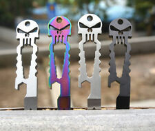 EDC Punisher Multi Tool Pocket Pry Bar Crowbar Wrench Bottle Opener Outdoor Camp