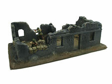 BOMBED OUT ONE STORY BUILDING MULTI ERA CAST FOAM ATHERTON SCENICS (#9601)