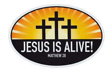 Magnetic Bumper Sticker - Jesus Is Alive Matthew 29 (Religious, Church) - Magnet
