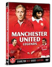 MANCHESTER UNITED Fc FOOTBALL LEGENDS 4 DVD SET BOBBY CHARTON BEST CANTONA GIGGS
