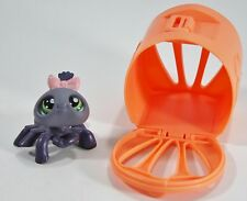 littlest pet shop Spider #329 Purple Realistic Green Eyes Carrier Accessory