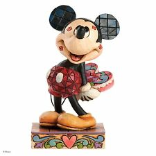 Disney Traditions Love Struck Mickey Mouse with Kisses Figurine 10.5cm 4031477