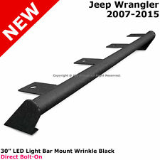 Jeep JK Wrangler 07-15 Full Metal Hood Light Mounting Bar HD Black