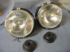 NEW TRIUMPH TR4 TO TR6 TR250 HALOGEN HEADLAMPS LHD EUROPEAN