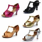 Women's Ballroom Latin Tango Dance Shoes Shining beads high-heeled shoes 7cm New