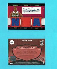 DWYANE WADE HEAT 2006/07 TOPPS TRIPLE THREADS AUTO JERSEY card 8/36 mint signed