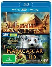 Egypt / Madagascar (3D) NEW B Region Blu Ray